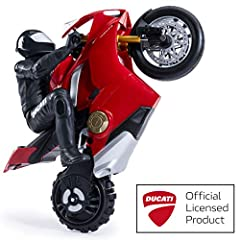 Experience the thrill of Ducati motorcycle racing at your fingertips, with the Upriser Ducati Panigale V4 S RC motorcycle! This 1:6 scale replica RC sport bike is unlike any remote-controlled vehicle you've ever experienced. Equipped with Tru...