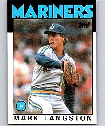 Amazoncom 1986 Topps Baseball 495 Mark Langston Seattle Mariners