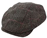 Brown Plaid Irish Tweed Cap by Mucros of Killarney