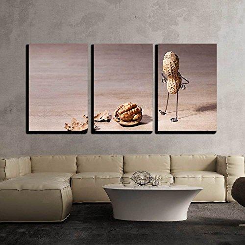 Miniature with Peanut Man and Walnut Brain x3 Panels