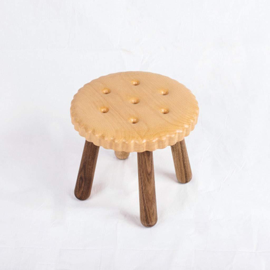 Amazon.com: Taburetes madera maciza galletas sala de estar ...