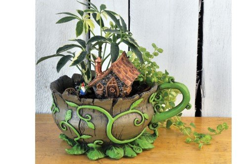 Georgetown Home and Garden Miniature Fairy Garden Woodland Vines Teacup ()