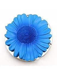 Purse Hook, Sunflower Foldable Handbag Purse Hanger Hook Holder For Tables ,(Blue)