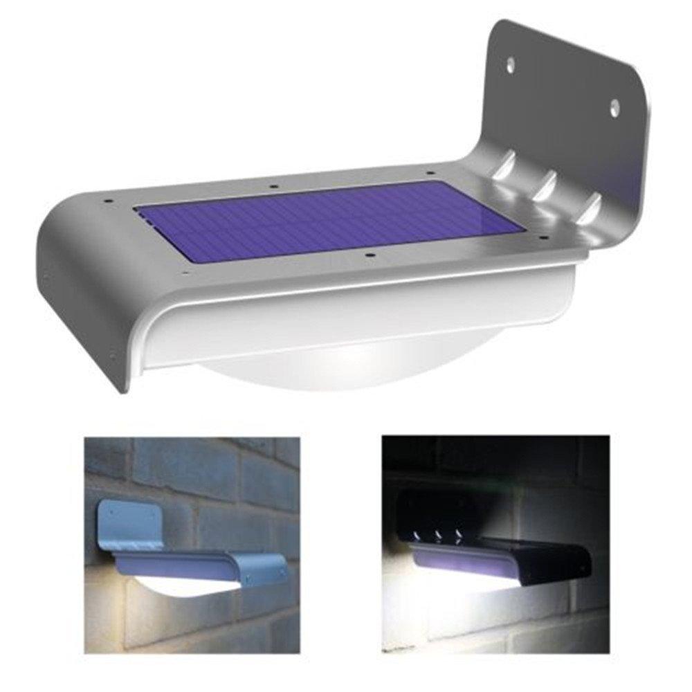AIYIOUWEI 16 LED Super Bright Waterproof Solar Powered Light Motion Sensor Outdoor Garden Patio Path Wall Mount Gutter Fence Security Lamp Light
