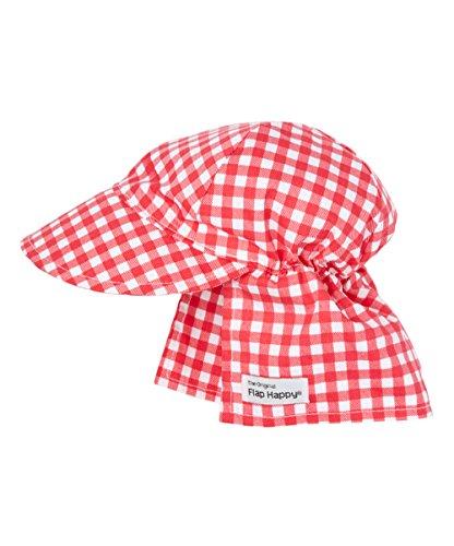 Original Flap Hat   Red Gingham ()
