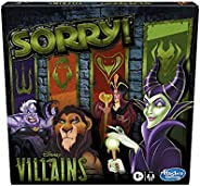 Hasbro Gaming Sorry! Board Game: Disney Villains Edition Kids Game, Family Games for Ages 6 and Up (Amazon Exc