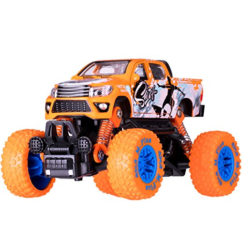 iPlay, iLearn Monster Truck Toys Set, 1:30 Large Pull Back Play Vehicles, Friction Powered, Big Wheels Cars Model, Learning Gift for Age 2, 3, 4, 5, 6, 7 Year Olds, Toddlers, Boys, Girls, Little Kids by iPlay, iLearn (Image #1)