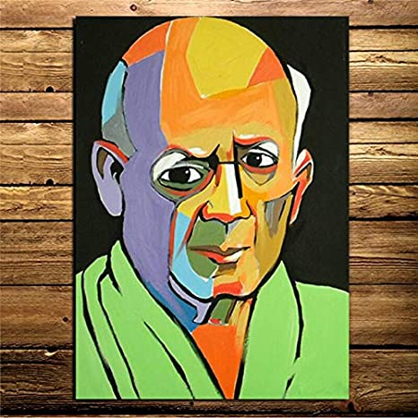 YuanMinglu Pintor Retrato Lienzo impresión Pintura Sala de Estar decoración del hogar Moderno Arte de la Pared Pintura al óleo póster Cuadro sin Marco Pintura 75x93cm