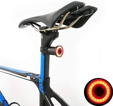 Bicycle Tail Rear Brake Smart Light Auto Start Stop Sensing USB LED Saddle Mount