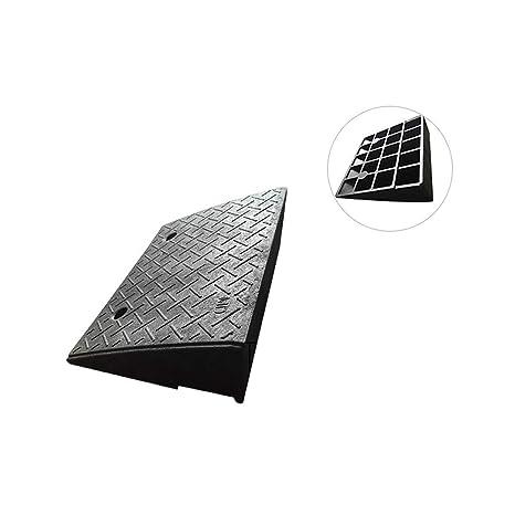 Rampas para bordillos, Negro antideslizante Pendiente de pendiente Soportado Voltaje Fácil de transportar Pendiente Triángulo