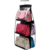 Yoki Home 家居收纳架包柜 放包包的收纳架子 家用卧室悬挂式包包收纳挂袋 多层 双面透明收纳袋挂袋 2个装 立体多层收纳挂袋