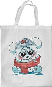 Printed Shopping bag, Medium Size, Rabbit