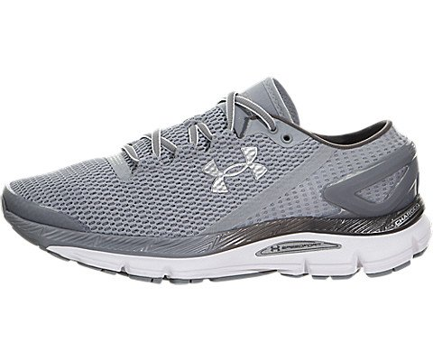classic fit 39a4f fe5e5 Under Armour Men's UA Speedform Gemini 2.1 Steel/White/Metallic Silver  Sneaker 8 D (M)