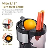 SKG Wide Chute Slow Masticating Juicer Extractor,Cold Press Juicer Machine for High Nutrient Fruit and Vegetable Juice with BPA Free (200W AC Motor, 36 RPM),Red