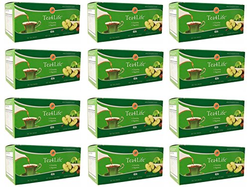 4Life Tea with Apple Cinnamon Flavor Cleansing Tea 30 Tea Bags each (pack of 12) by 4life