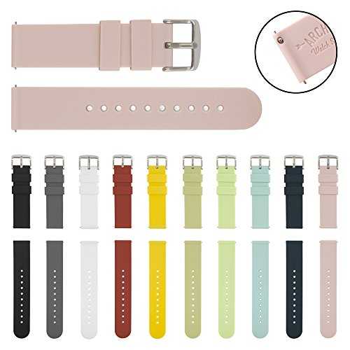 archer-watch-straps-quick-release-silicone-soft-rubber-replacement-straps-pale-rose-18mm