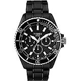 Timex Men's Dress Analog 44mm Stainless Steel Multifunction Bracelet Watch