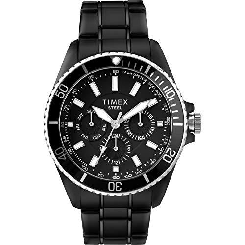 Timex Men's Dress Analog 44mm Stainless Steel Multifunction Bracelet Watch (Dress Multifunction Watch)
