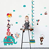 Height Stickers Removable Wall Stickers for Kids Pvc Self Adhesive Height Stickers Waterproof Height Growth Chart…