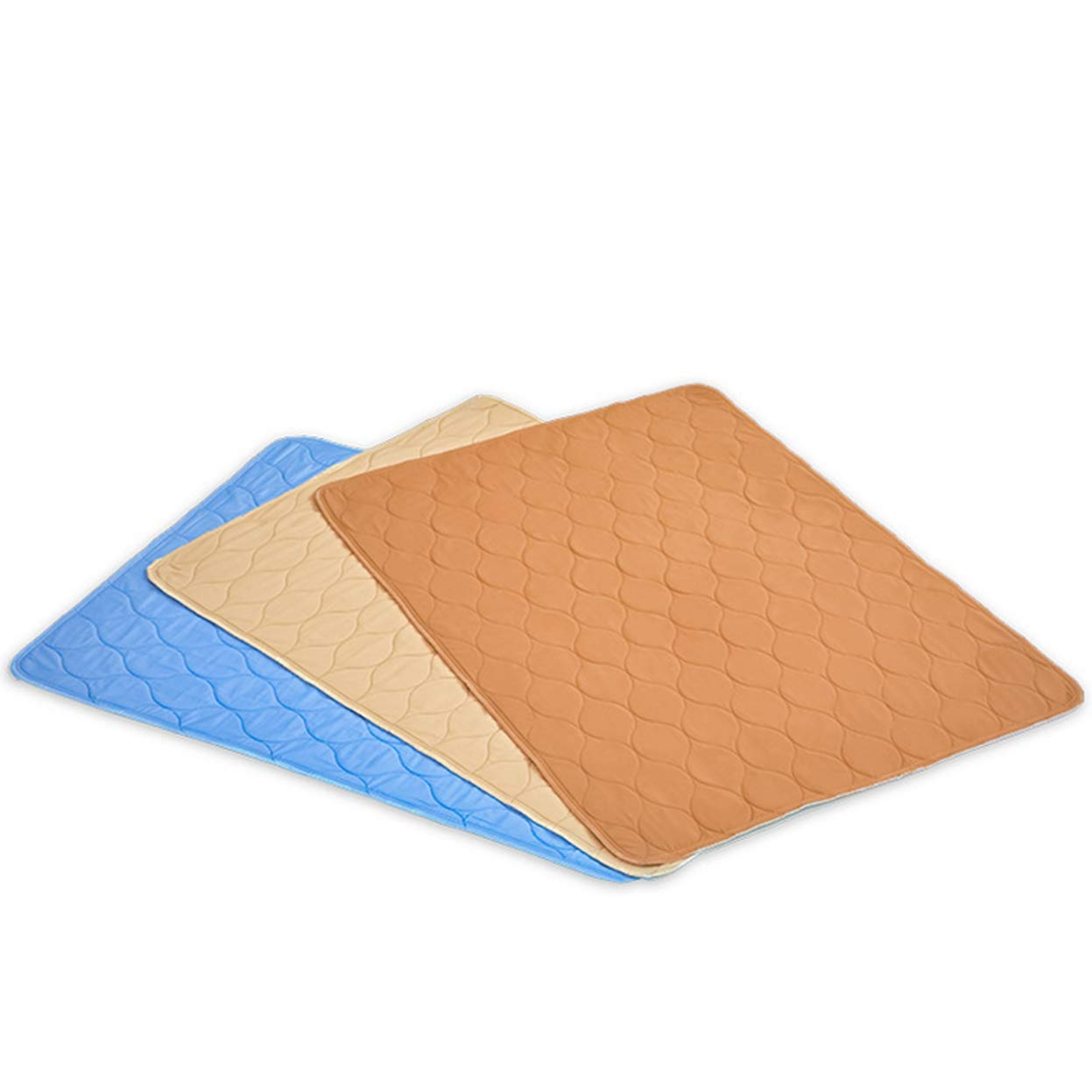 Ggsrtesxs Adult Absorbent Premium Quality Bed Pad Polyester Cotton Four Layers Thick Anti-Slip Sheets Quilted Waterproof Reusable Washable,Light Brown,80x120cm by Ggsrtesxs