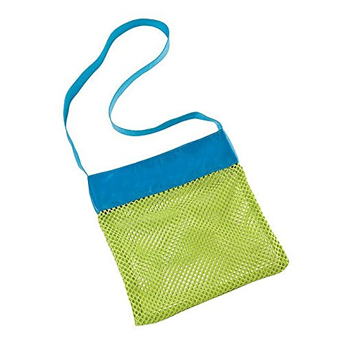 AMAZZANG-Kids Beach Bags Storage Bags Clothes Towel Bags Toys Collect Bags Mesh Sandboxes (BLUE, - Dolce In Spanish Meaning