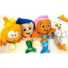 Bubble Guppies Gil, Molly, and Bubble Puppy and Mr Grouper Medium Plush Doll Set 10 by Bubble Guppies
