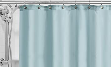 popular bath fabric shower curtain liner powder blue