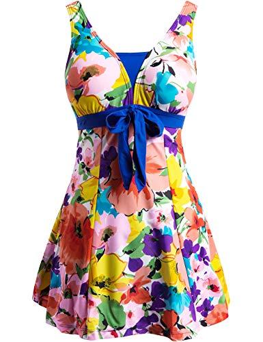 Wantdo Women's Swimsuit One-Piece Dress Swimwear Orangeflower US 16-18