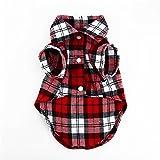 1Pcs Lovely Grid Sweater Puppy Cotton Coat T-Shirt Pet Dog Apparel Clothes Shirt