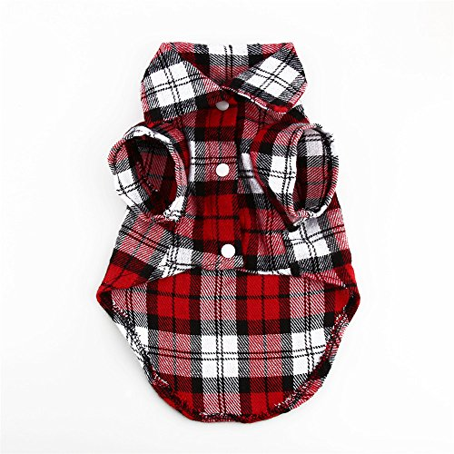 [Lovely Shirt Sweater Puppy Cotton Coat T-Shirt Pet Dog Apparel Clothes Shirt (M, RED)] (Red Octopus Pajama Costumes)