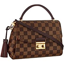 Louis Vuitton Damier Ebene Canvas Croisette Hand Carry Shoulder Handbag Article:N53000 Made in France