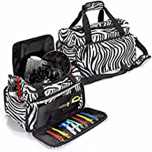Hairdressing Bag, LuckyFine Professional Salon Hair Tools Hairdressing Bag, Large Capacity Hair Stylist Cosmetic Organizer with Accessory Pockets, Shoulder Strap - Travel Luggage