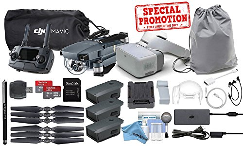 DJI Mavic Pro and DJI Goggles Combo + 2 Extra Battery Bundle
