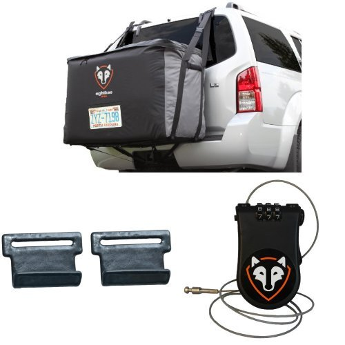 Saddle Clip - Rightline Gear Cargo Saddlebag with Car Clips and Cable Lock Bundle