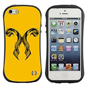 Hybrid Anti-Shock Bumper Case for Apple iPhone 5 5S / Cool Horns