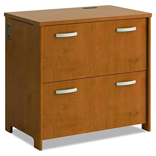 Modular Lateral Filing Cabinet - Bush Furniture PR76354 2-Drawer File, Natural Cherry