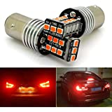 1157 2057 BAY15D 15W LED Brake Lights Bulb 15-2835 SMD High/Low Beam Super Brighter Pack of 2 Red