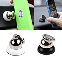 PR Universal 360 Degree Rotating Car Phone Stand, Universal Magnetic Mount Holder For All Phone Sizes, Mobile, tablet or GPS (Silver)-Hyundai Verna Fluidic
