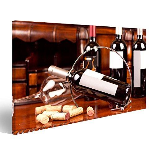 Cuadro Moderno La Natura Morta Con Vino Rojo, botella ...