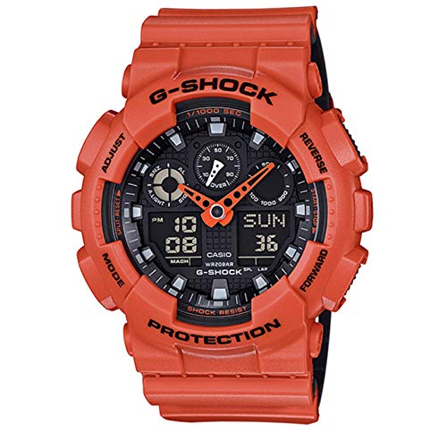 Used, Casio G-Shock GA-100 Military Series Watches - Orange/One for sale  Delivered anywhere in USA