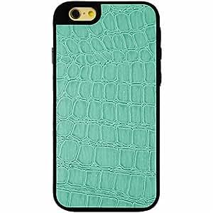 Mocca Design G60006 - Carcasa de gel para iPhone 6, diseño de piel de cocodrilo, color azul