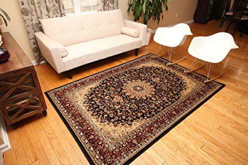 Feraghan/New City fer4018black_10x13 Traditional Area Rug, 9 x 12, Black