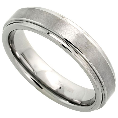 Tungsten Wedding Satined Recessed Comfort