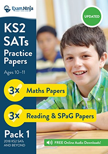 KS2 SATs Practice Papers - Pack 1 (English Reading, SPaG & Maths) Inc. Answers & Audio (New Curriculum) 2017: Inc. Free Audio Downloads
