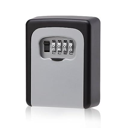Beau Key Storage Lock Box, Wall Mounted Key Door Lock Box With 4 Digit  Combination