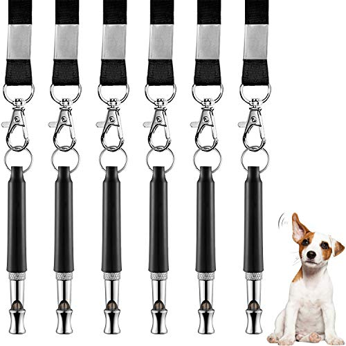 6 Pack Dog Whistle - Professional Dog Training Whistle to Stop Barking - Adjustable Pitch and Frequency Ultrasonic Pet Whistle Training Tool - Silent Bark Control for Dogs The Whistle