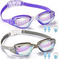 Noorlee Swim Goggles, 2 Pack Swimming Goggles for Adult...