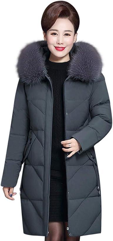 Manteau Femme Grand Taille Fourrure avec Capuche Hiver Chaud