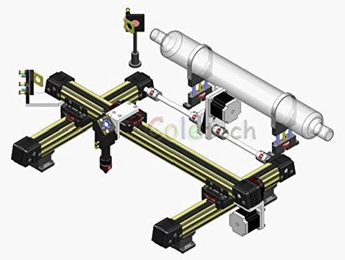Integrated mechanical part for CO2 Laser engraveing cutting machine DIY 90X60CM