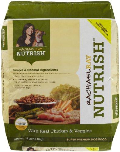 Rachael Ray Nutrish Dry Dog Food, Chicken/Vegetable Recipe, 28-Pound, My Pet Supplies